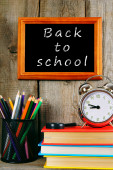Back to school. Books and school tools . — Stock Photo