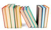 Bunte Bücher. auf weißem Hintergrund. — Stockfoto