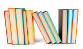 Multi-coloured books. On white background. — Stock Photo