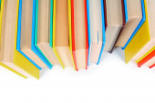 Multi-coloured books. On white background. — Foto Stock