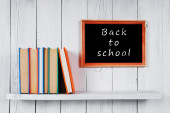 Back to school. Multi-coloured books. — Stock Photo