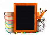Framework and school tools. On white background. — Stock Photo