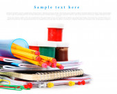 School tools on a white background. — Stock Photo
