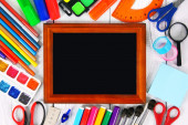 Framework and school tools around. — Stock Photo