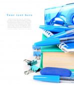 学校在白色背景上的工具. — 图库照片