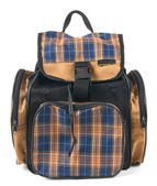 School backpack. On white background. — Stock Photo