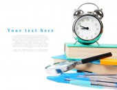 School tools on a white background. — Stok fotoğraf