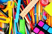 Stationery and school accessories. — Stock Photo