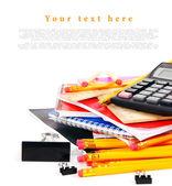 School tools on a white background. — Stockfoto