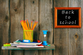 Writing-books and school tools. — Stock Photo