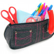 Bag with school tools on a white background. — Stock Photo #52987953