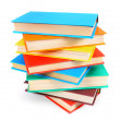 Multi-coloured books. On white background. — Stock Photo #52991245