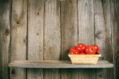 Tomatoes in a basket . — Stock Photo