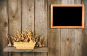 Garlic in a basket — Stock Photo