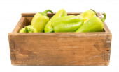 Pepper in an old box. — Stock Photo