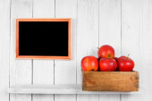 Apples in a box — Stock Photo