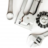 Metalwork. Working tools on white background. — 图库照片