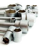 Metalwork. Set spanner on a white background. — Stock Photo