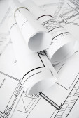 Drawings for building house. Working drawings. — Fotografia Stock