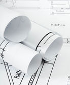 Drawings for building house. Working drawings. — Stock Photo
