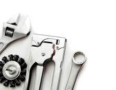 Metalwork. Working tools on white background. — Stock Photo