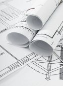 Drawings for building house. Working drawings. — Stockfoto