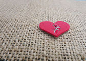 Stitched broken heart — Stock Photo