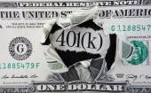 401(k) dollar — Stock Photo