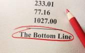 Bottom Line — Stock Photo