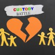 Постер, плакат: Child custody battle