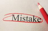 Red circle mistake — Stock Photo