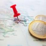 Greece Euro map — Stock Photo #71199385