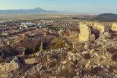 Ruins of Rasnov citadel — Stock Photo