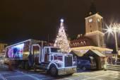Christmas Coca-Cola truck — Stock Photo