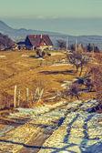 Romanian rural scene — Stock Photo