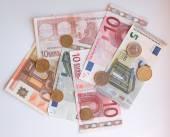 Pièces et billets en euros — Photo