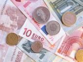 Banknoty i monety euro — Zdjęcie stockowe