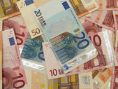 Euro banknotes — Stock Photo