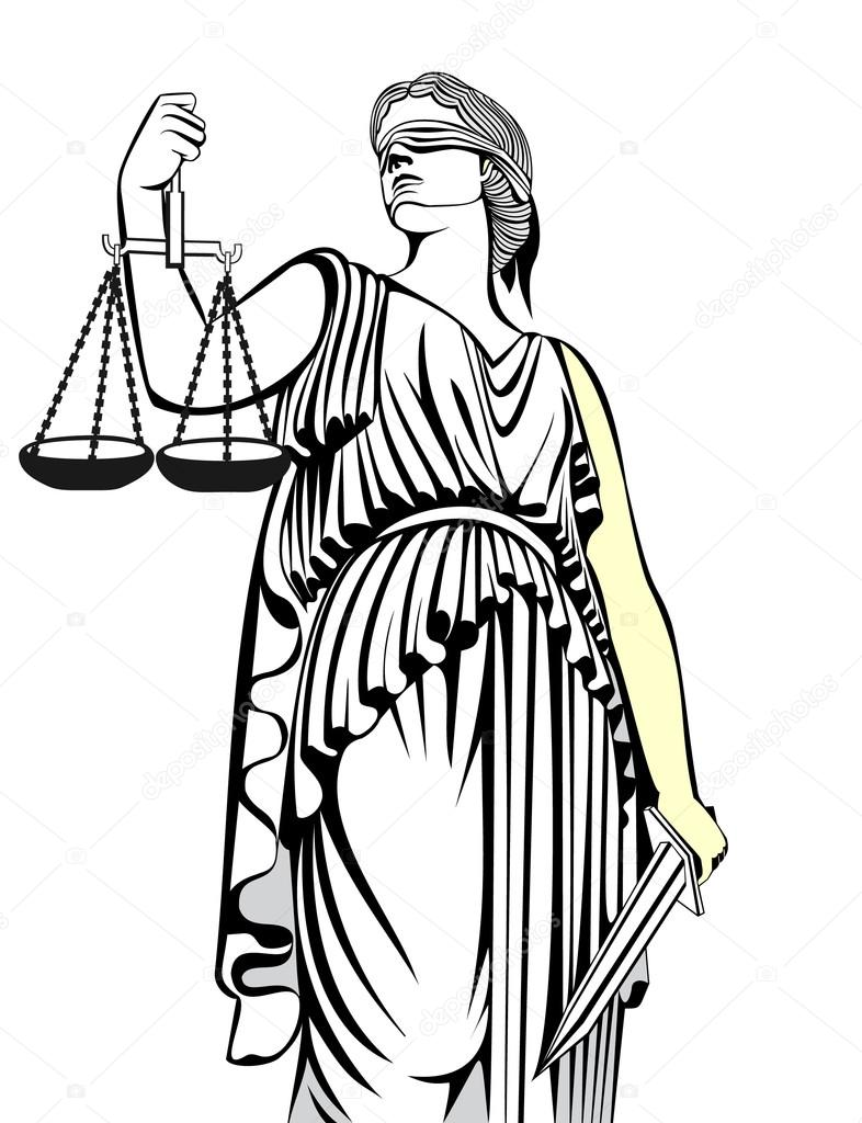 Themis Goddess of Justice Clip Art – Clipart Download