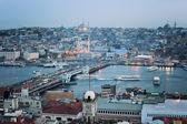 Istanbul skyline at sunset — Stock Photo