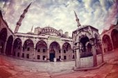 Retro style image of Sultanahmet Blue Mosque — Stock Photo