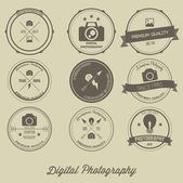 Photography Vintage Creative Logo Concept — Stock Vector