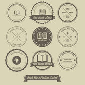 Book Store Vintage Label — Stock Vector