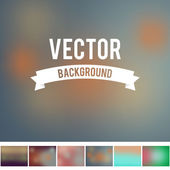 Resizeable blur background gradient mesh collection for design — Stock Vector