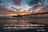 Oceanside Pier with quote — Stock Photo