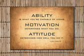 Lou Holtz Motivational quote over bamboo — Stockfoto