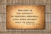 Omar Bradley quote about bravery — Stock Photo