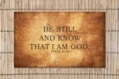 Be still and know that I am God. — Stock Photo
