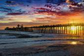 The wooden pier in Oceanside — Stock Photo