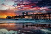 Sunset at Oceanside Pier — Stock Photo